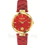 Versus Covent Garden VESCD060016 Stainless Steel IP Yellow Gold Red Dial Red Strap Ladies Watch