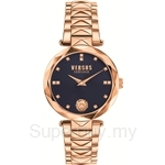 Versus Covent Garden VESCD130016 Stainless Steel IP Rose Gold Bracelet Blue Dial Ladies Watch