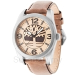 Timberland Bolton TBL.14770JS/07 Brown Leather Strap Beige Dial Men Watch