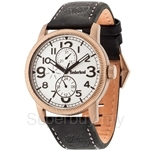 Timberland Erving TBL.14812JSK/01 Black Leather Strap White Dial Ladies Watch