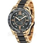 Bonia Two Tone IP Yellow Gold Black Stainless Steel Crystal Bezel Ladies Watch - BNB796-3035