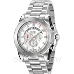 Bonia All Stainless Steel White Dial Chronograph Men Watch - BNB829-1312C