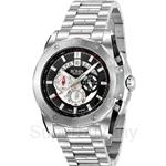 Bonia All Stainless Steel Black Dial Chronograph Men Watch - BNB829-1332C