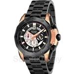 Bonia All Black with IP Rose Gold Case Chronograph Men Watch - BNB829-1532C