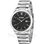 Bonia All Stainless Steel Black Dial Men Watch - BNB836-1333