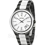 Bonia Two Tone Black & White Stainless Steel Ceramic Watch - BNB881-2715