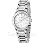 Bonia All Stainless Steel White Dial Ladies Watch - BNB893-2312