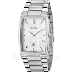 Bonia All Stainless Steel White Square Dial Men Watch - BNB915-1312