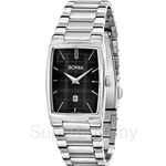 Bonia All Stainless Steel Black Square Dial Ladies Watch - BNB915-2332