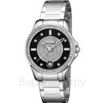 Bonia All Stainless Steel Black Dial Ladies Watch - BNB919-2337S