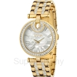 Bonia IP Yellow Gold with Crystal Bracelet & Mother of Pearl Dial Ladies Watch - BNB994-2251S