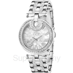 Bonia All Stainless Steel with Crystal Bracelet & Mother of Pearl Dial Ladies Watch - BNB994-2351S