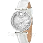 Bonia White Leather Strap Mother of Pearl Dial Ladies Watch - BNB994-2359S