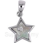 Lazo Diamond 9KW Diamond Mother of Pearl Pendant - PP5927
