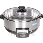 Hanabishi Multi Cooker 3.8L Stainless Steel Bowl with Steamer - HA1600S