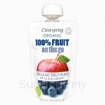 Clearspring Organic Fruit On The Go Apple & Blueberry 120g (Pouch) - 22060