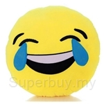 Happy Hoops 30cm Laughing Tears Funny Face Emoji Cushion