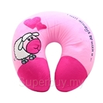 Happy Hoops Pink Sheep Neck Cushion