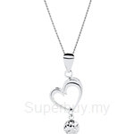 Lazo Diamond 9KW White Gold Pendant without Chain - 8P2017