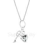 Lazo Diamond 9KW White Gold Pendant without Chain - 8P2034