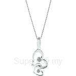 Lazo Diamond 9KW White Gold Diamond Pendant without Chain - DPB517