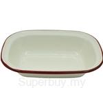 Fackelmann Enamel Oblong Pie Dish (Medium) - 687892