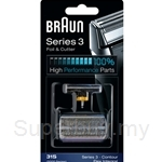 Braun Combi Foil and Cutter Replacement Pack Silver 31S