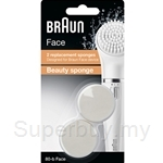 Braun Face Beauty Sponge - Facial Cleansing Routine Refill Duo Pack SE80-B