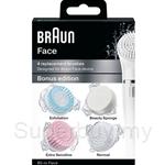 Braun Face Bonus Edition - Complete Facial Cleansing Toutine Brush Refill SE80-M
