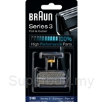 Braun Combi Foil and Cutter Replacement Pack Black 31B
