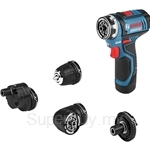 Bosch GSR 12V-15 FC Professional Cordless Drill Driver (Comes with 4 Attachments, 2 Batteries & Charger) - 06019F60L0