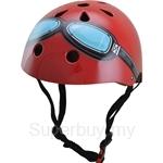 Kiddimoto Red Goggle Bicycle Helmet (Small) - KMH006S