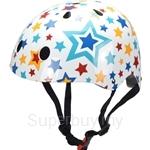 Kiddimoto Stars Bicycle Helmet (Small) - KMH067S