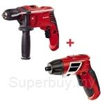 [Drill Combo] Einhell TE-ID 500 E Impact Drill + TC-SD 3.6 Li Cordless Screwdriver
