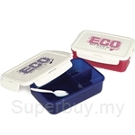 EASYLOCK 1300ml Plastic Lunch Box with Compartments and One Spork - OF014