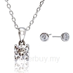 Kelvin Gems Premium Solitaire Pendant Necklace Gift Set