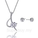 Kelvin Gems Premium Eternal Blade Pendant Necklace Gift Set