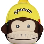 NOHOO Monkey with Cap Kids Backpacks (For 4-6 Years Old) - NH021