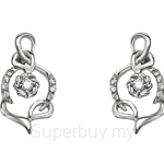 Tomei 9K White Gold Diamond Earring (E2054V) - D30025946