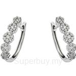 Tomei 9K White Gold Diamond Earring (E1529) - D30020264