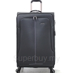 Gardini 19 Inch Double Zipper Spinner Expended with TSA Luggage Bag