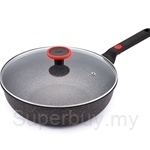 Cheftopf Granoble 30cm Wok with Glass Lid - GM014